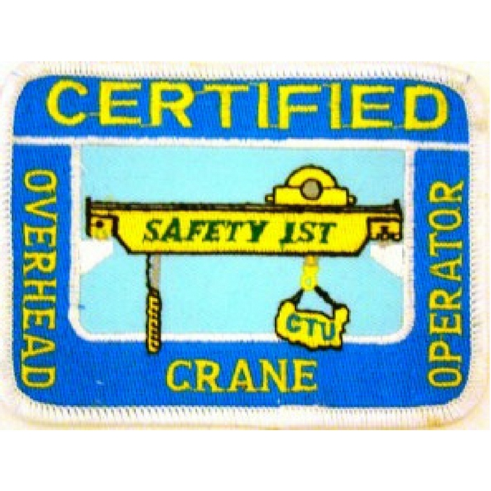Overhead Crane Operator Licence : Certified overhead crane operator patch cranetraining