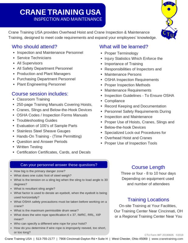 Brochures - CraneTraining com